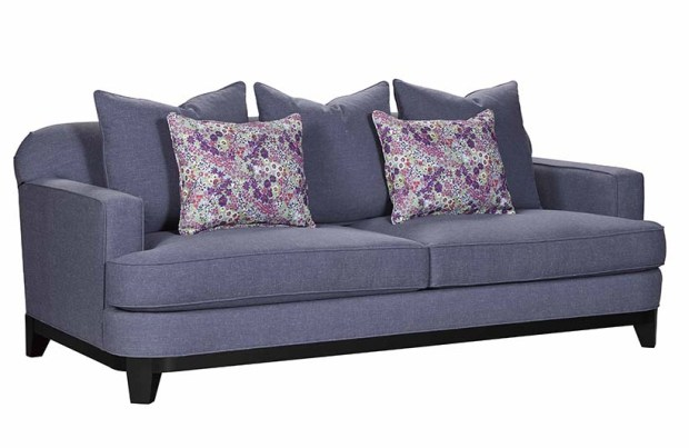 Broyhill - Augusta Sofa w floral pillows copy