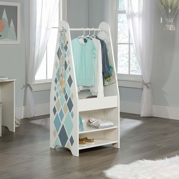 Sauder - Pinwheel collection kids open wardrobe copy